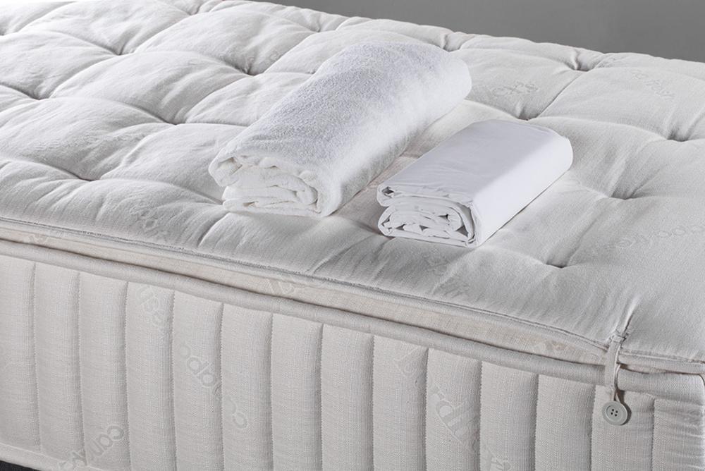 Coprimaterasso e parure lenzuola completa ad alto spessore inclusi nel prezzo del materasso
