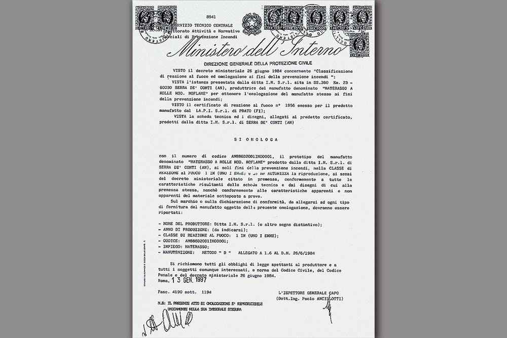 Certificazione Ministeriale Classe 1 IM