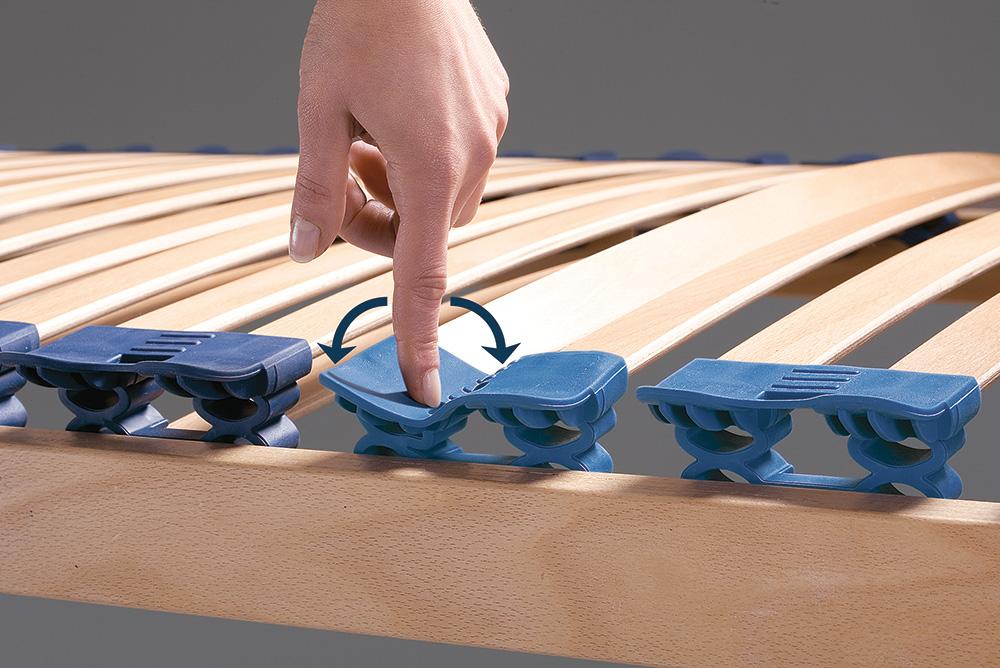 Подвижные опоры реек дифференцированных зон жесткости